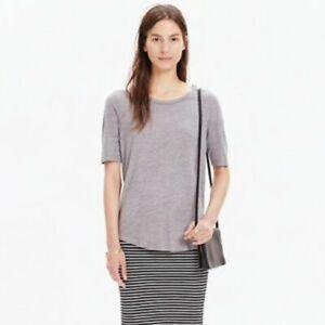 MADEWELL Anthem Curved Hem T-shirt Gray Medium